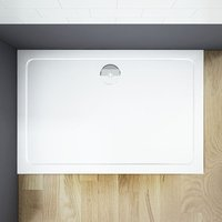 1400x800mm Slimline Rectangle Shower Enclosure Stone Tray Free Waste - Aica
