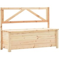 Storage Bench 120 cm Solid Pine Wood - Brown