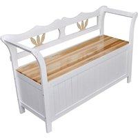 Zqyrlar - Storage Bench 126x42x75 cm Wood White - White