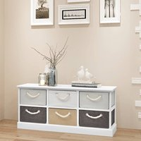 Youthup - Storage Bench 6 Drawers Wood