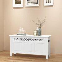 Zqyrlar - Storage Bench Baroque Style MDF White - White