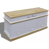 Storage Bench Shoe Cabinet Entryway Bench VD08407