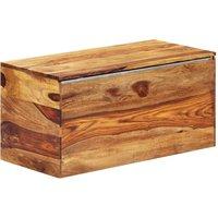 Storage Chest 80x40x40 cm Solid Sheesham Wood - ASUPERMALL