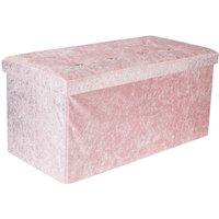 Augienb - Storage Ottoman Bench Stool Seat Lounge Footrest 76x38x38cm pink