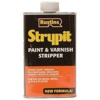 Rustins STNF1000 Strypit Paint and Varnish Stripper New Formulation 1 Litre