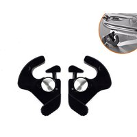Suitable for Harley Motorcycle Backrest Quick Release Bracket, Tail Cargo Lock Frame, Movable Quick Release Buckle Lock Clip on Rear of Motorcycle