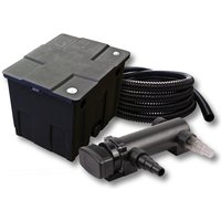 Wiltec - SunSun Kit de filtration de bassin 12000l 18W UVC 3. Stérilisateur et 5m Tuyau