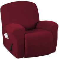 Bearsu - Super Stretch Couch Covers Recliner Covers Recliner Chair Covers Form Fitted Standard/Oversized Power Lift Reclining Slipcovers, Feature
