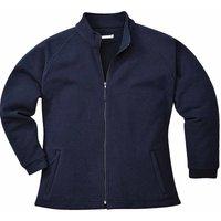 sUw - Aran Ladies Workwear-Casual Fleece Jacket, Navy, XS,