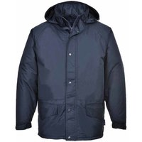 sUw - Arbroath Breathable Fleece Lined Waterproof Jacket With Hood, Navy, M,