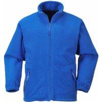 Portwest - Suw Unisex Argyll Heavy Workwear Fleece Jacket, Royal, Xl,