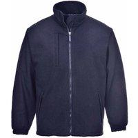 sUw - BuildTex Workwear Laminated Showerproof Anti Pill Fleece Jacket, Navy, M,