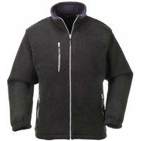 Portwest - Suw Mens City Workwear Double Sided Fleece Jacket, Black, Xs,