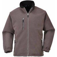 sUw - City Workwear Double Sided Fleece Jacket, Grey, XL, - PORTWEST
