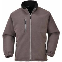 sUw - City Workwear Double Sided Fleece Jacket, Grey, 2XL, - PORTWEST