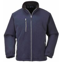 Portwest - Suw Mens City Workwear Double Sided Fleece Jacket, Navy, 3Xl,