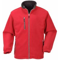 Portwest - Suw Mens City Workwear Double Sided Fleece Jacket, Red, M,