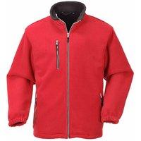 Portwest - Suw Mens City Workwear Double Sided Fleece Jacket, Red, S,
