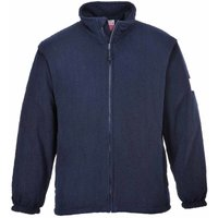 Suw - Flame Resistant Safety Workwear Anti Static Fleece Jacket, Navy, S,