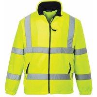 sUw - Hi-Vis Safety Workwear Mesh Lined Fleece Jacket, Yellow, M,