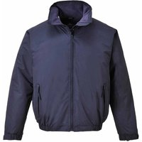 sUw Mens Moray Fleece Lined Weatherproof Bomber Jacket Navy Large
