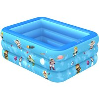 Swimming Pool Garden Outdoor Inflatable Paddling Pool Blue 180x130x55cm