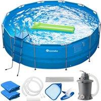 Tectake - Swimming pool Merina - paddling pool, outdoor swimming pool, garden swimming pool - blue