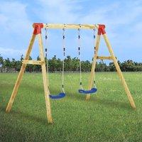 Zqyrlar - Swing Set 230x130x166 cm Pinewood - Brown