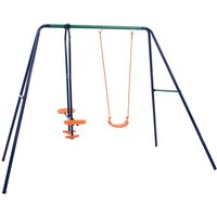 Zqyrlar - Swing Set with 3 Seats Steel - Orange
