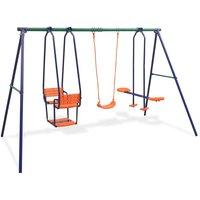 Youthup - Swing Set with 5 Seats Orange