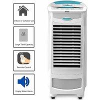 Symphony White Portable 9L Evaporative Air Cooler Conditioner Alarm Remote