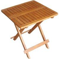 Table de bistrot extérieure bois acacia huilé marron jardin balcon terrasse meubles angulaire pliable Harms 960301