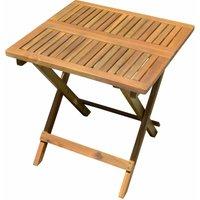 Table de bistrot d'extérieur mobilier de balcon de jardin marron acacia bois aspect teck huilé Harms 985239