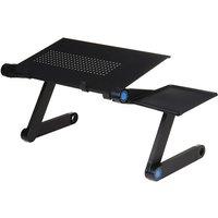 Adjustable Foldable Desk Laptop Stand Computer Cooling Desk W/ Removable Mouse Holder 420x260mm