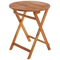 Estexo - Table de balcon table pliante table en bois 60x60 cm table de jardin table en bo