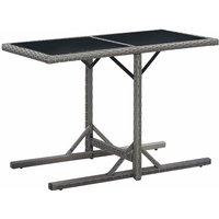 Table de jardin Anthracite 110x53x72 cm Verre et résine tressée - VIDAXL