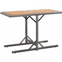 Youthup - Table de jardin Anthracite Résine tressée et bois d'acacia