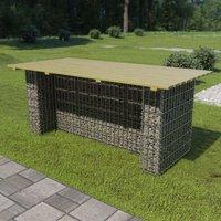 Table de jardin avec gabion d'acier 180x90x74 cm Bois de pin - YOUTHUP