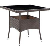 Table de salle à manger de jardin Marron Résine tressée - VIDAXL