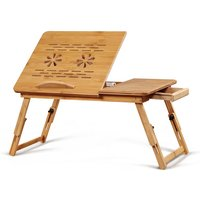 Table Folding laptop stand with drawer 55x21x25cm - AUGIENB