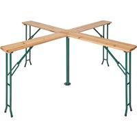 Tectake - Table de Jardin de Réception Pliante Haute en Bois 241 cm x 241 cm x 103 cm Marron