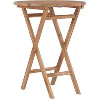 Youthup - Table pliable de jardin 60 cm Bois de teck solide