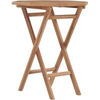 Table pliable de jardin 60x60x75 cm Bois de teck solide - ASUPERMALL