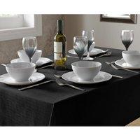 Tablecloth Black Linen Dining Table Cover Square 135x135cm - ALAN SYMONDS
