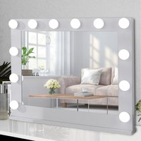Livingandhome - Tabletop LED Bulb Hollywood Dressing Makeup Mirror, 80CM