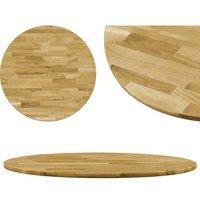 Table Top Solid Oak Wood Round 23 mm 900 mm - VIDAXL