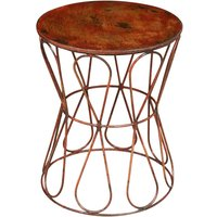 Tabouret en fer banc finition rouge antique L39XPR39XH48 cm