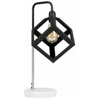 Talisman Marble Base Table Lamp in Brushed Chrome with Puzzle Shade - Add LED Bulb