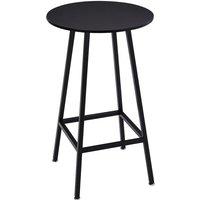 Black Bar Table Breakfast Kitchen Dining Room Bistro Patio Modern Furniture Round