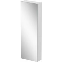 Tall Single Door Bathroom Mirror Cabinet Cupboard Stainless Steel Wall Mounted